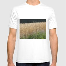 Field of summer White Mens Fitted Tee MEDIUM