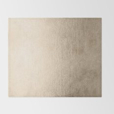 White Gold Sands Throw Blanket