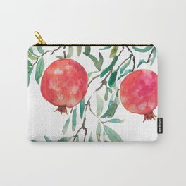 red pomegranate watercolor Carry-All Pouch