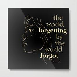 Forgetting Metal Print