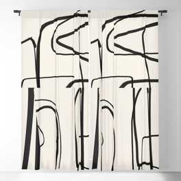 Abstract line art 18 Blackout Curtain