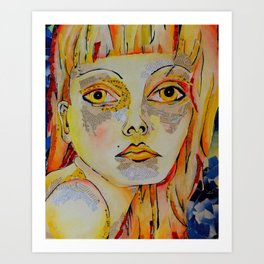 Thought in Primaries Art Print