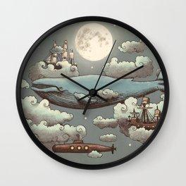 Ocean Meets Sky Wall Clock