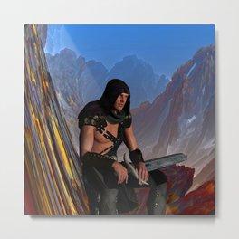 Lost Warrior Metal Print