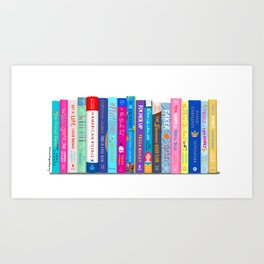 Romance Books Art Print