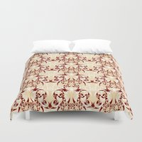 skyrim Duvet Covers featuring Celtic Loop White by Astrablink7