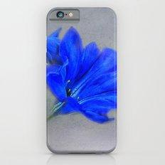 Painted Blue Gentians Floral Slim Case iPhone 6s