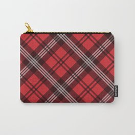Scottish Plaid (Tartan) - Red Carry-All Pouch