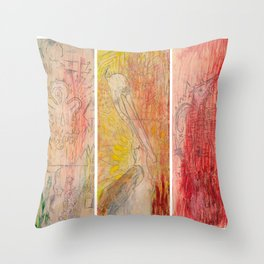 The Unborn, The Living, The Dead Throw Pillow