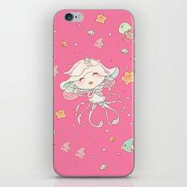 Cute Jellyfish Mermaid iPhone Skin