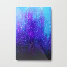 Space Ice Starfield Blue and Purple Metal Print