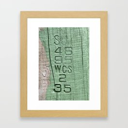 Code Framed Art Print