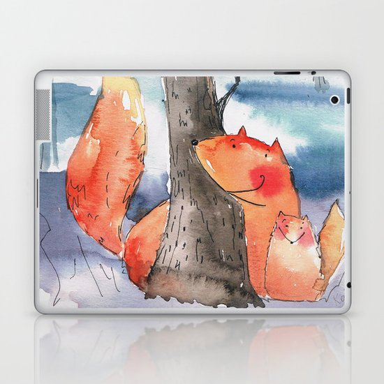 Spring foxes Laptop & iPad Skin