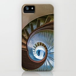 Spiral Staircase in the Old Lighthouse iPhone Case