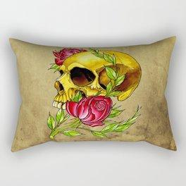 trad skull w rose Rectangular Pillow