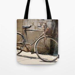 Chinese Old Bike Tote Bag