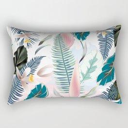 Trendy fashion tropics. Vector illustration print Rectangular Pillow