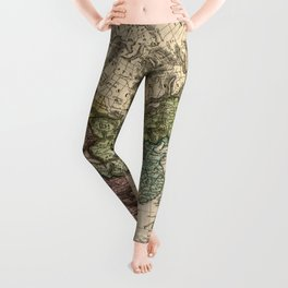 Charte van Asien (Map of Asia) 1805 Leggings