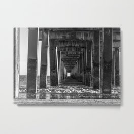 Pier Support Metal Print