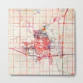 Ames map Iowa IA Metal Print