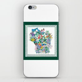 Wisconsin Wildflowers with border iPhone Skin