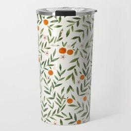 Oranges Foliage Travel Mug