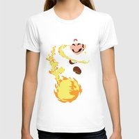 mario T-shirts featuring Mario - Fire Flower Mario by TracingHorses