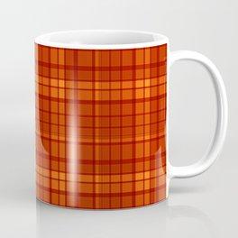 Orange plaid Coffee Mug