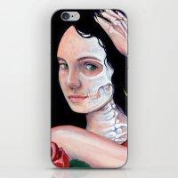 dia de los muertos iPhone & iPod Skins featuring Dia de los Muertos by whiterabbitart