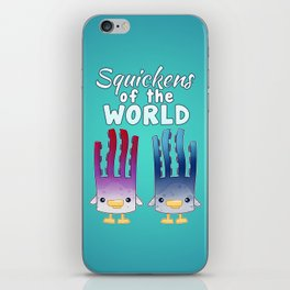 Squickens of the World iPhone Skin