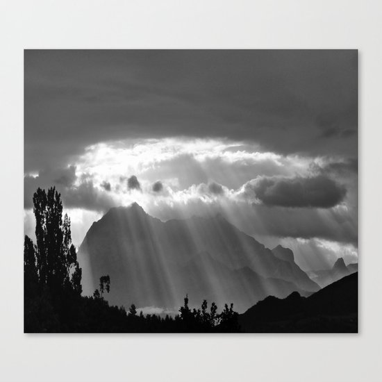Rays From The Sky Canvas Print
