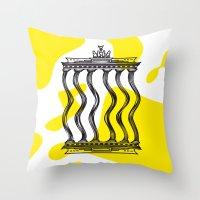 berlin Throw Pillows featuring Berlin by Jan Luzar