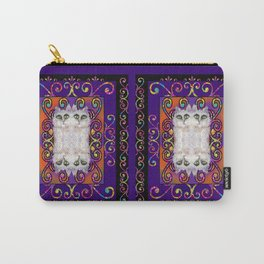 CAT ARABESQUE GYPSY PURPLE BLUE Carry-All Pouch