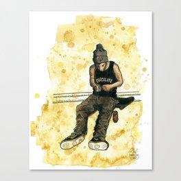 Chocolate Skater Canvas Print