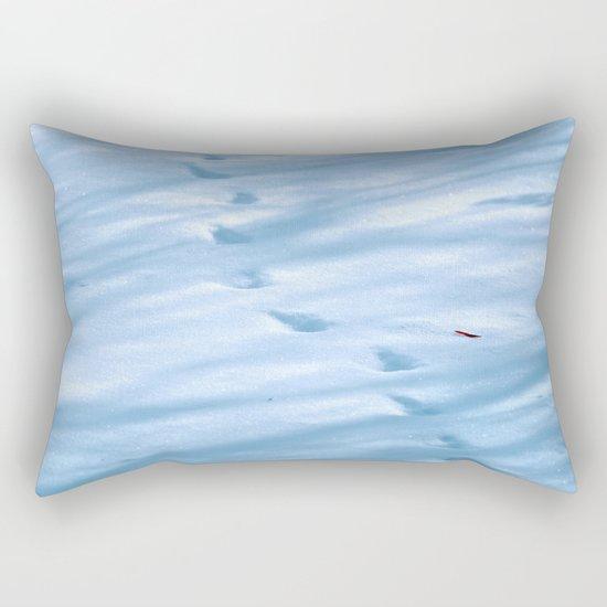 Snow Fall Feather Rectangular Pillow