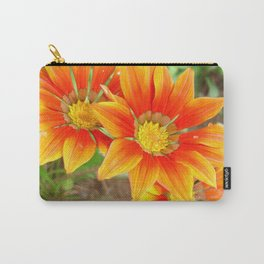 Vibrant Yellow and Vermillion Gazania Rigens Flower Carry-All Pouch