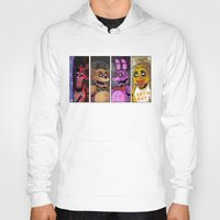 fnaf Hoodies featuring Five nights at Freddy's by Garvals