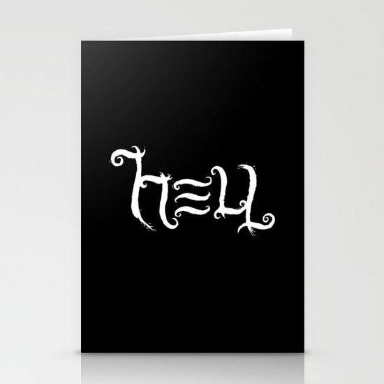 Raise HELL (Black) Stationery Cards