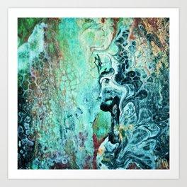 Aqua Flow Abstract Art Print