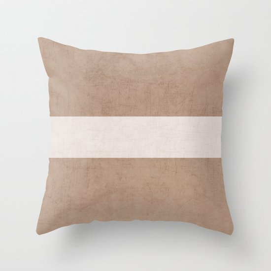 natural and white classic Throw Pillow