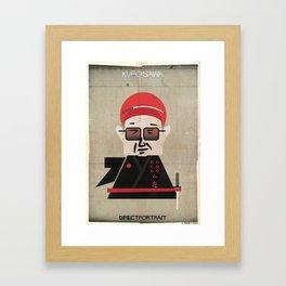 031_directportrait_Akira Kurosawa Framed Art Print