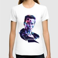 arnold T-shirts featuring Arnold Schwarzenegger: BAD ACTORS by Largetosti