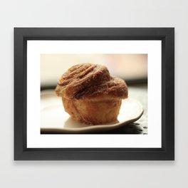Cinnamon Swirl Muffin Framed Art Print