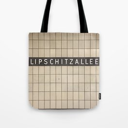Berlin U-Bahn Memories - Lipschitzallee Tote Bag