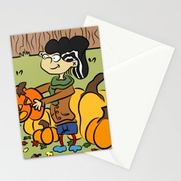 Plethora Of Pumpkins Double D Stationery Cards