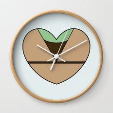 Yoda Character Heart Wall Clock
