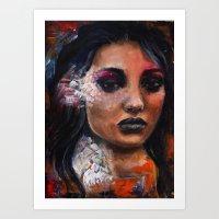 Painted Portrait Art Print