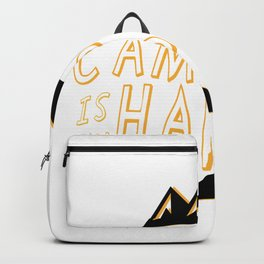 Camping Is My Happy Place Camper Funny Backpack