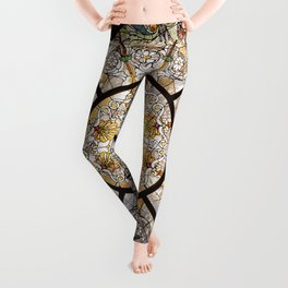 Stained glass window glass ceiling Leggings