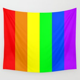 Rainbow flag - Vertical Stripes version Wall Tapestry